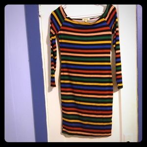 Heart & Hips for Fashion Nova striped bodycon dres